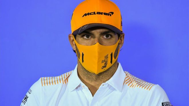 Carlos Sainz, satisfecho tras la qualy.