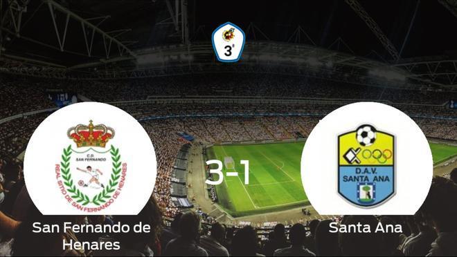 El San Fernando de Henares se hace fuerte en casa y consigue vencer al Santa Ana (3-1)
