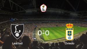 El Lealtad Villaviciosa y el Real Oviedo B concluyen su enfrentamiento en el Les Caleyes sin goles (0-0)
