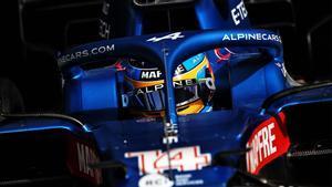 Fernando Alonso en el circuito de Bahréin