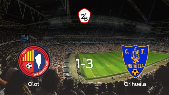 Triunfo del Orihuela CF frente al Olot (1-3)
