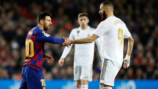 Messi y Benzema, en un clásico