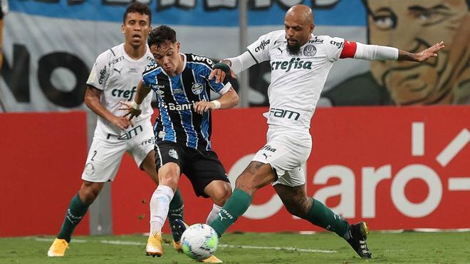 El Palmeiras ganó 0-1 al Gremio en la final ida del torneo del KO