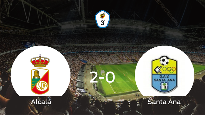 El RSD Alcalá se hace fuerte en casa y gana al Santa Ana (2-0)