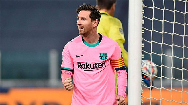 Messi cerró el marcador en Turín desde el punto de penalti