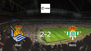 Real Sociedad share the points with Real Betis in a 2-2 draw