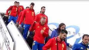 La selección española ya se encuentra en Bélgica