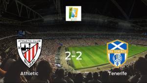 El Athletic Club Femenino y el Granadilla Tenerife finalizan su encuentro liguero con un empate (2-2)