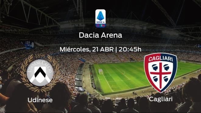Jornada 32 de la Serie A: previa del duelo Udinese - Cagliari
