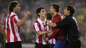 Iraola, en la final de Copa de 2009 en Valencia
