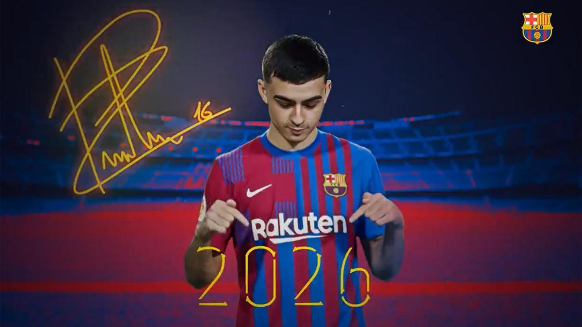 Así ha anunciado el Barça la renovación de Pedri hasta 2026