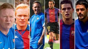 Presente y pasado de los entrenadores del FC Barcelona, Barça B y Juvenil A