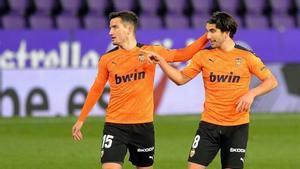 Guillamón y Soler en el partido ante el Valladolid.