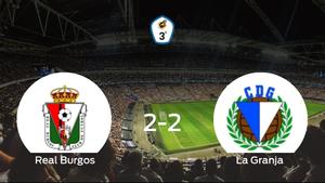 El Real Burgos CF y La Granja finalizan su encuentro liguero con un empate (2-2)