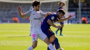 José Ángel Pozo en el partido jugado hace unas semanas en el Mini Estadi