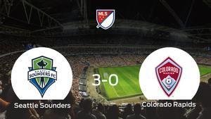 El Seattle Sounders se lleva el triunfo tras golear 3-0 al Colorado Rapids