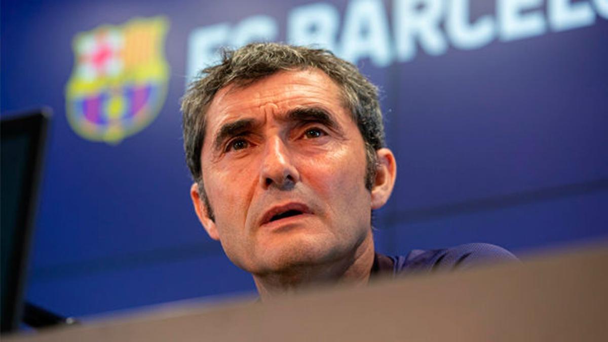 Valverde no quiso hablar sobre Dembélé