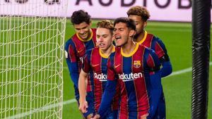 Nils celebró con rabia su primer gol de la temporada