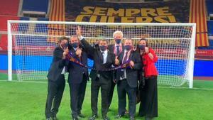 Así celebro Laporta su primer título tras ser reelegido presidente del Barça