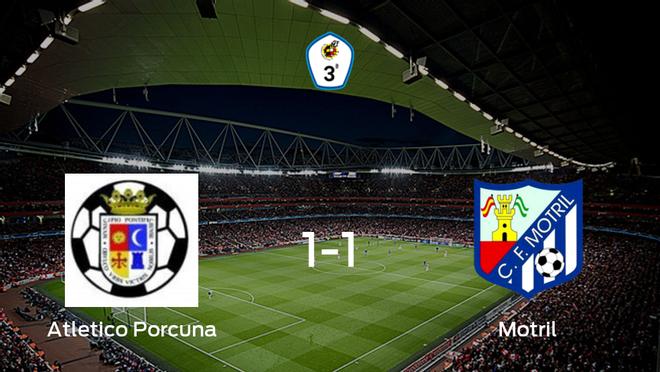 El Atletico Porcuna y el Motril empatan 1-1 y se reparten los puntos