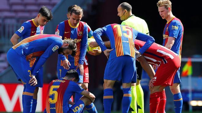 El 1x1 del Barça, al descanso ante el Atlético de Madrid