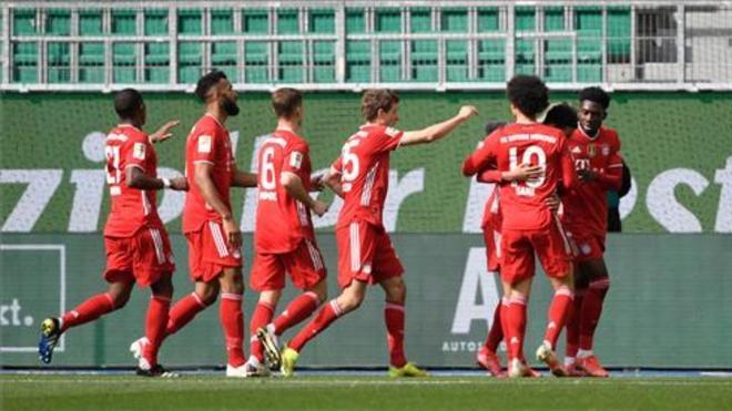 Los jugadores del Bayern celebrando un tanto