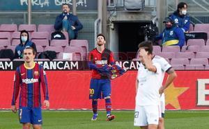 Las imágenes del partido del FC Barcelona contra el Osasuna de LaLiga Santander disputado en el Camp Nou, Barcelona.