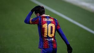 Collado, en el último partido del Barça B