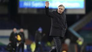 Ancelotti durante un partido