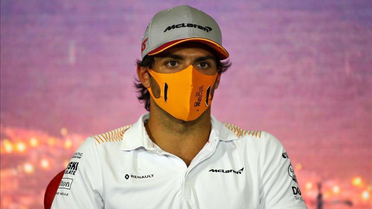 Carlos Sainz, en rueda de prensa