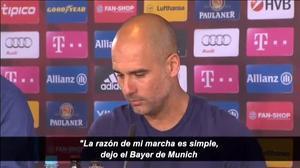 Pep Guardiola: Quiero entrenar en la Premier League