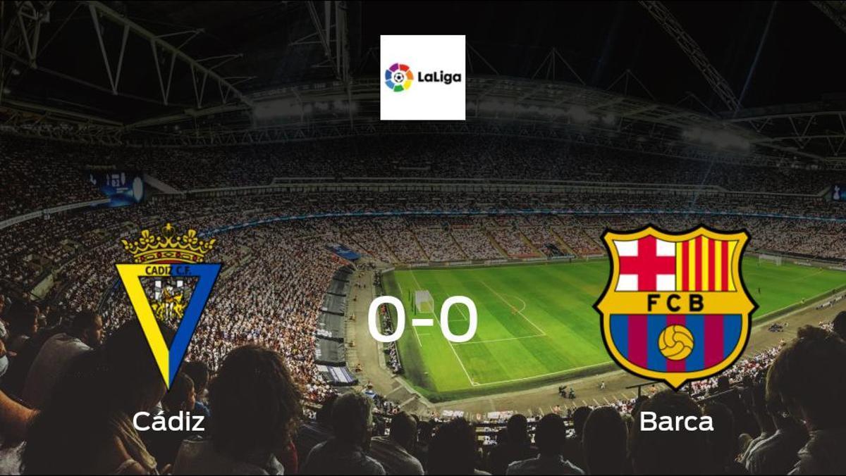 Cádiz and Barca can only manage a 0-0 draw at Estadio Ramon de Carranza