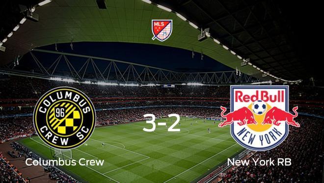 El Columbus Crew gana 3-2 contra el New York RB y consigue un boleto en semifinales
