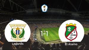 Reparto de puntos entre el Leganés B y El Álamo (1-1)
