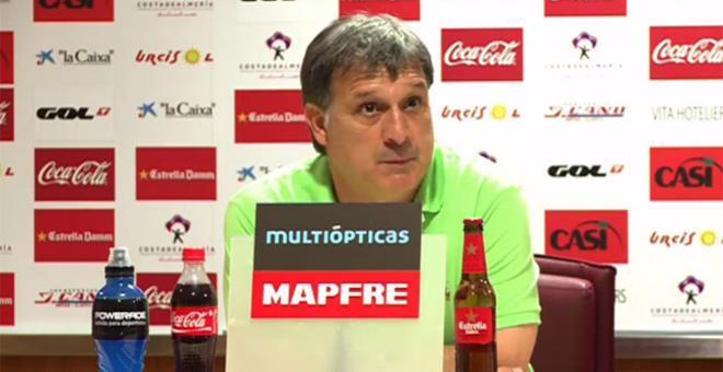 El Tata Martino en la rueda de prensa posterior al Almería - FC Barcelona