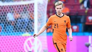 De Jong, durante el partido entre Países Bajos y Ucrania