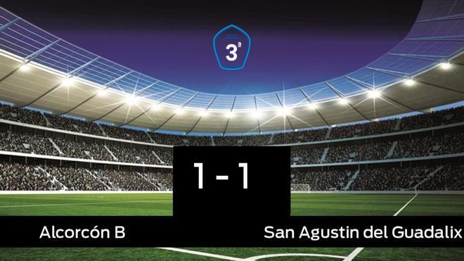 El San Agustin del Guadalix saca un punto al Alcorcón B a domicilio 1-1