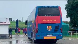 Así ha llegado el Barça al entrenamiento matinal