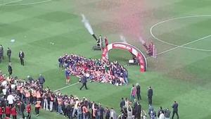 El Barça levantó la Copa del Rey en el Vicente Calderón