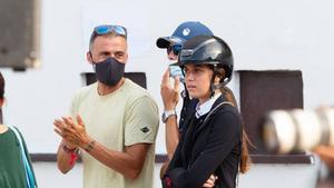 Luis Enrique es un fan de su hija Sira, a la que sigue cuando compite