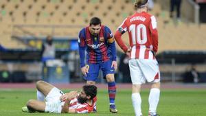 Messi le recrimina a Villalibre la acción de la expulsión