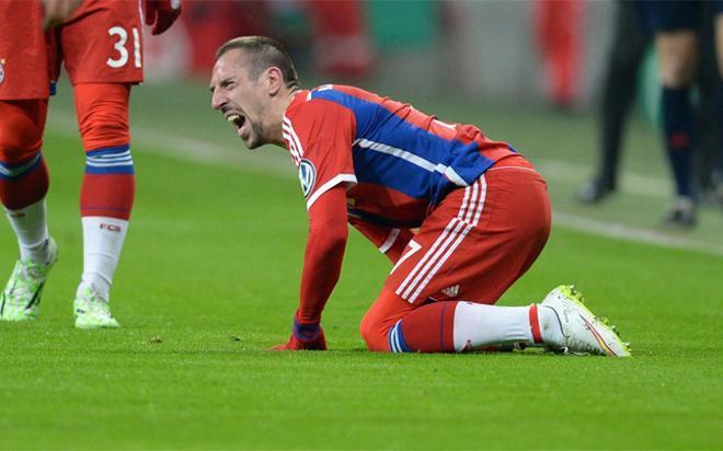 Ribéry, lesionado desde el 11 de marzo, podría llegar a jugar contra el FC Barcelona las semifinales de Champions League