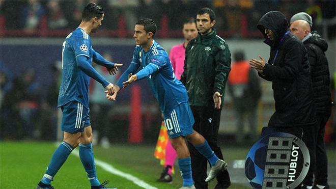 El cambio que no gustó a Cristiano: Fue sustituido por Dybala