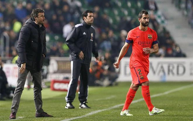 Martín Montoya ha disputado cuatro partidos desde que comunicó su deseo de abandonar el club
