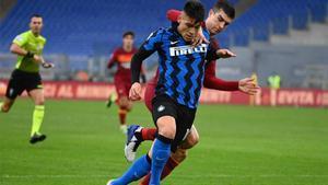 Lautaro, a gusto en el Inter de Milán