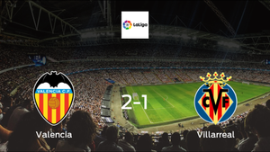 Valencia take all 3 points, after 2-1 victory against Villarreal