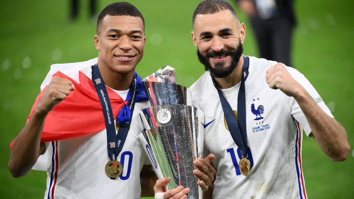 Kylian Mbappe y Karim Benzema