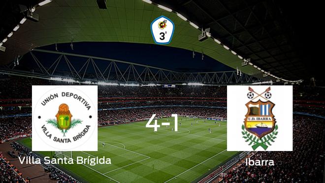 Victoria para el Villa Santa Brígida tras golear 4-1 al Ibarra