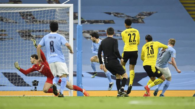 De Bruyne abrió la lata ante el Dortmund