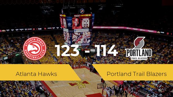 Atlanta Hawks se lleva la victoria frente a Portland Trail Blazers por 123-114